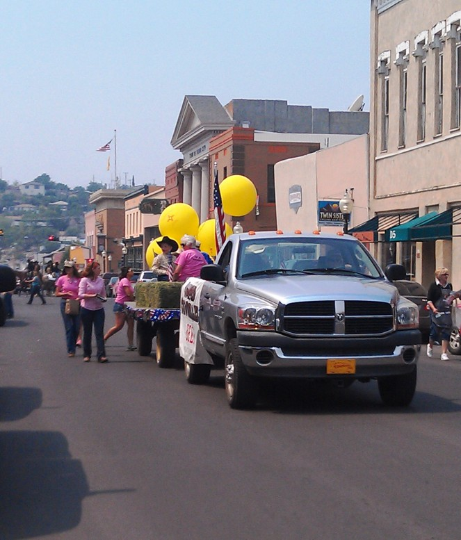 Copper CowBelles in the Rodeo Parade